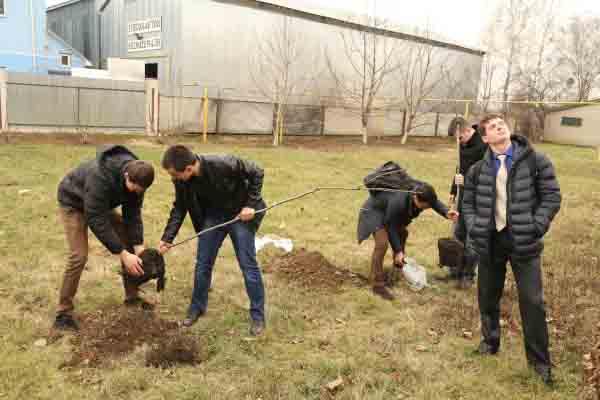 У Мукачівському аграрному коледжі садять дерева