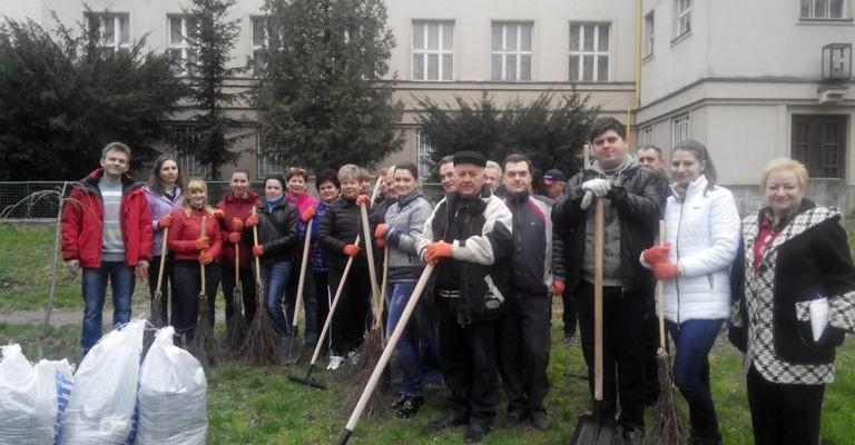 Департамент освіти і науки Закарпатської ОДА на суботнику