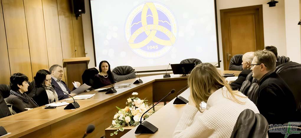 Під час зустрічі в ректораті УжНУ