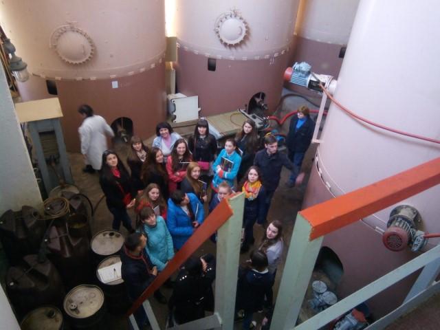 Свалявські студенти на Ужгородському коньячному заводі