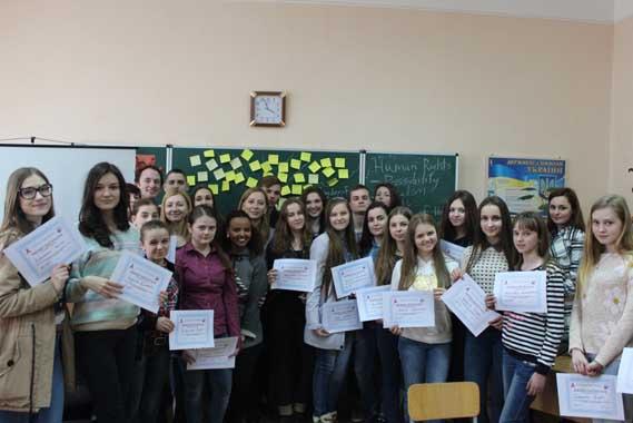 Учасники табору з англійської мови у Виноградові