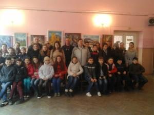 Зустріч свалявських учнів із художниками