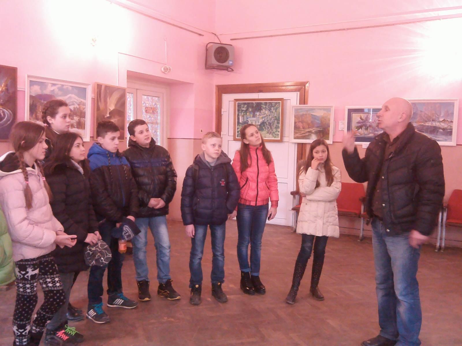 Зустріч учнів із художниками Свалявщини