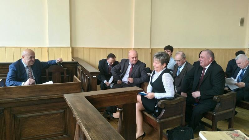Генадій Москаль і Ганна Сопкова у суді