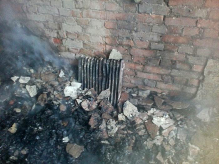 Наслідки пожежі у школі на Тячівщині