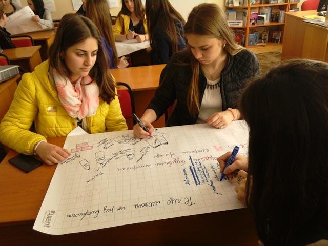 Студенти під час екологічного тренінгу