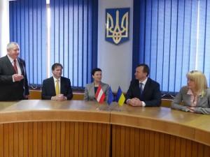 Зустріч із Габсбургами в Ужгородській міськраді