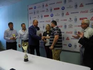 Нагородження переможця - Олександра Гала