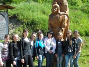 Свалявські студенти біля лінії Арпада