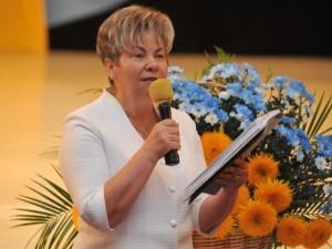 Ганна Сопкова під час засідання колегії департаменту освіти і науки Закарпатської ОДА