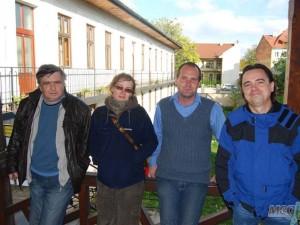 Ігор Прохненко (другий справа) з колегами у східнословацькому відділі Інституту археології САН (м. Кошіце)