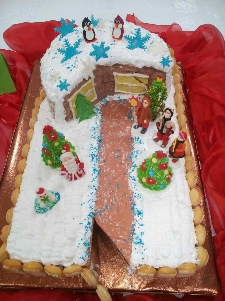 Торт «Зимова казка» (автор Олександра Суботіна)