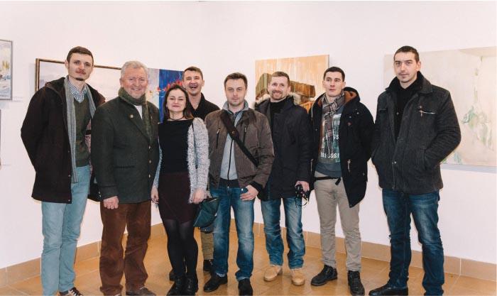 Із головою закарпатської обласної спілки художників Борисом Кузьмою