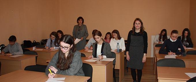 Учасники олімпіади з англійської мови в Ужгороді