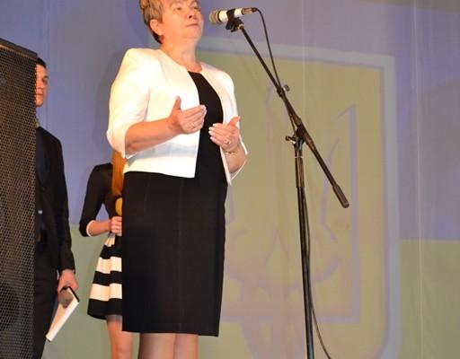 Ганна Сопкова виступає на відкритті олімпіади з екології