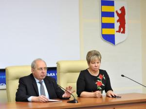 Павло Хобзей, Ганна Сопкова під час зустрічі з педагогами