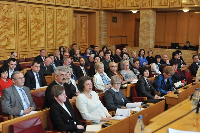 Присутні на колегії департаменту освіти і науки Закарпатської ОДА