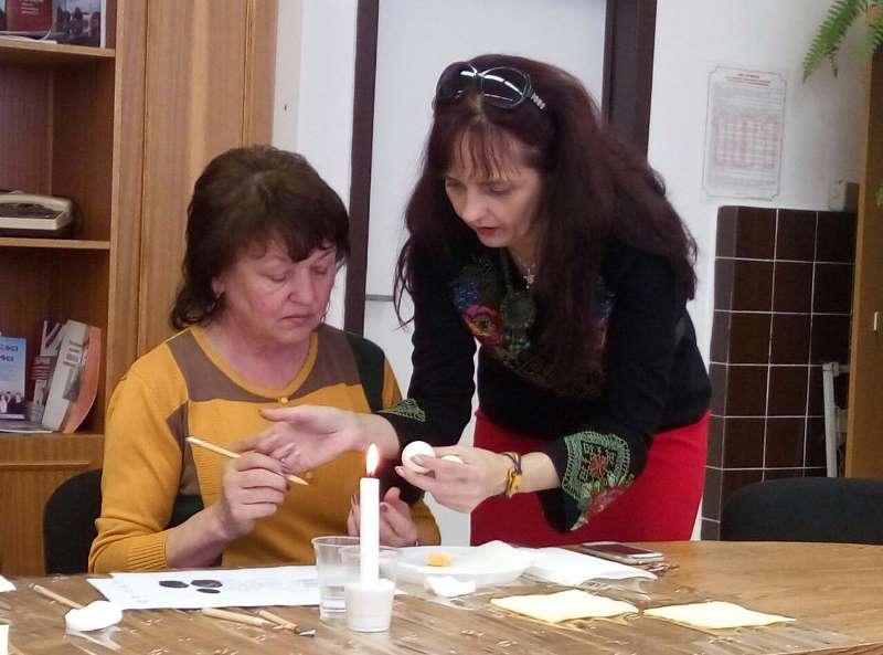 С.Залуцька провела майстер-клас із виготовлення писанок