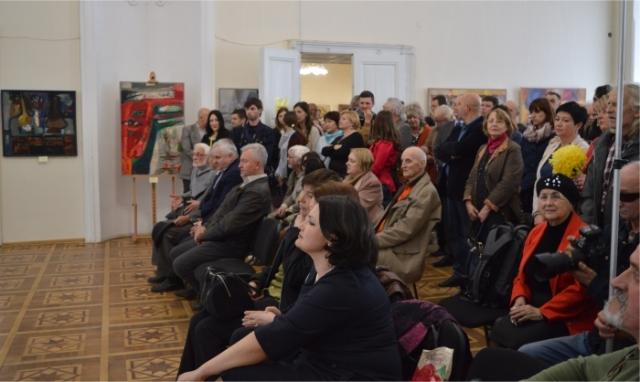 На відкритті виставки Антона Ковача