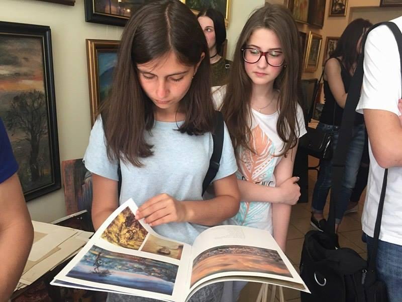 Студенти УТЕК КНТЕУ в арт-салоні Йосипа Чернія