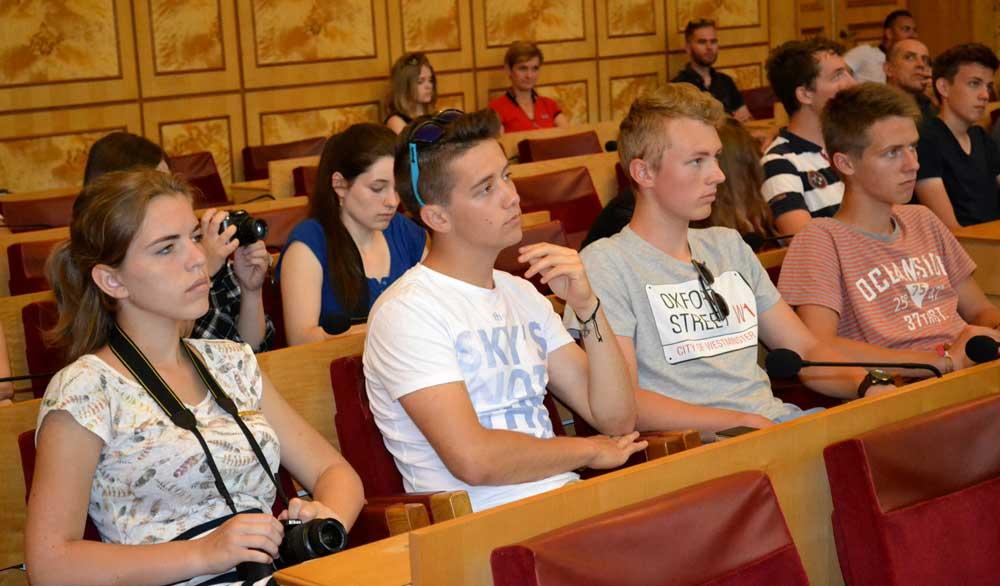 Студенти з Чехії в Закарпатській облраді