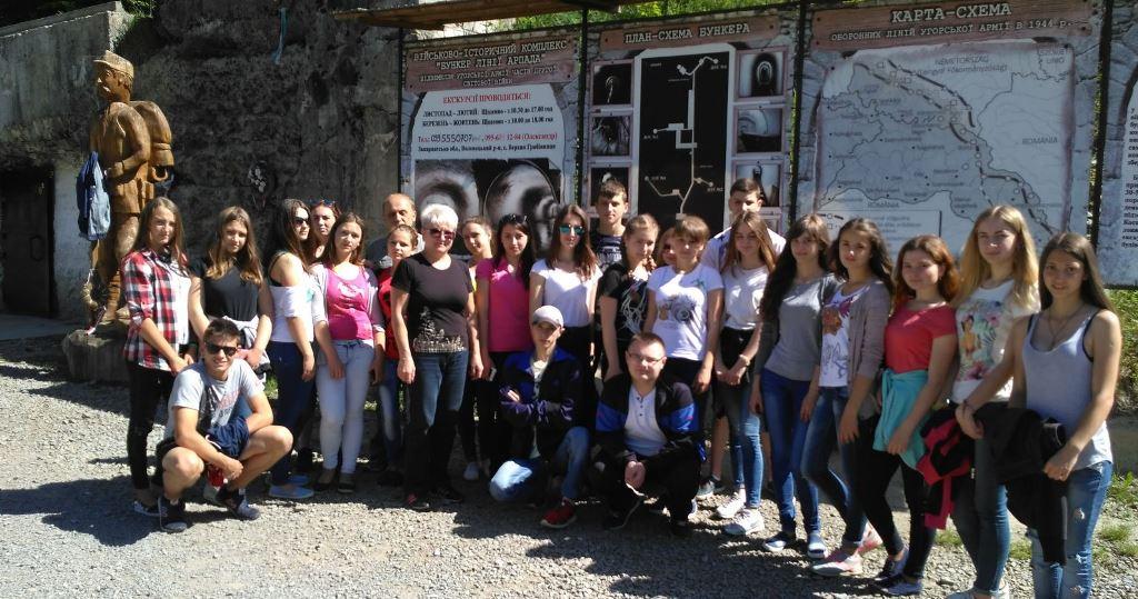 Екскурсія студентів і викладачів зі Сваляви на лінію Арпада