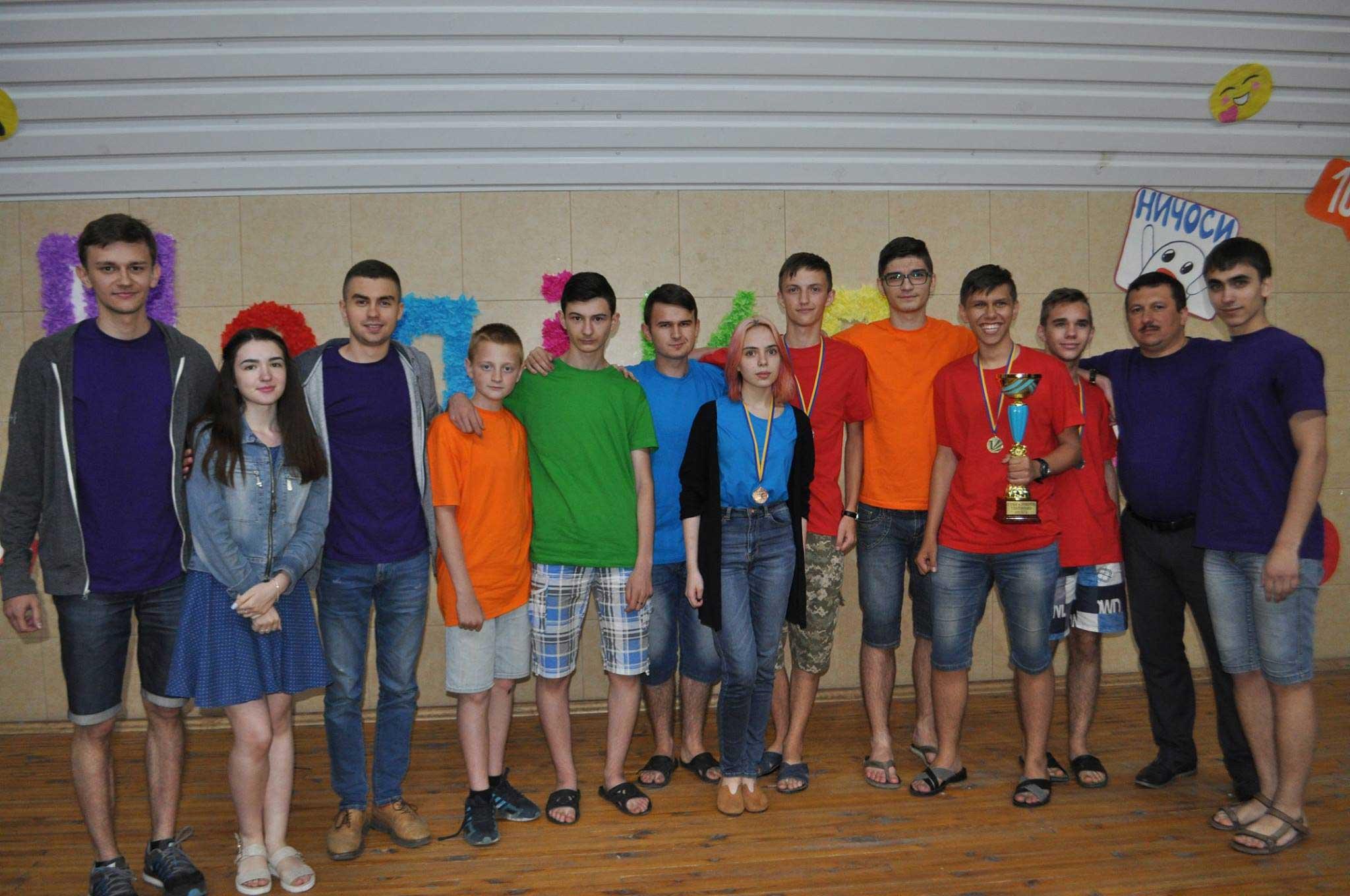 Закарпатська команда в Кременчуці. Станіслав Томаш - четвертий справа