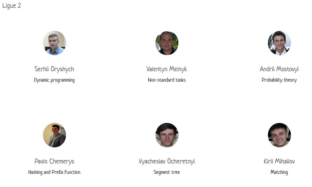 2 ліга - лектори Літньої школи з програмування в Ужгороді