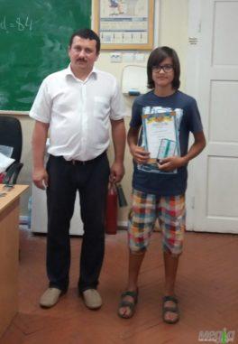 Олександр Міца з учнем