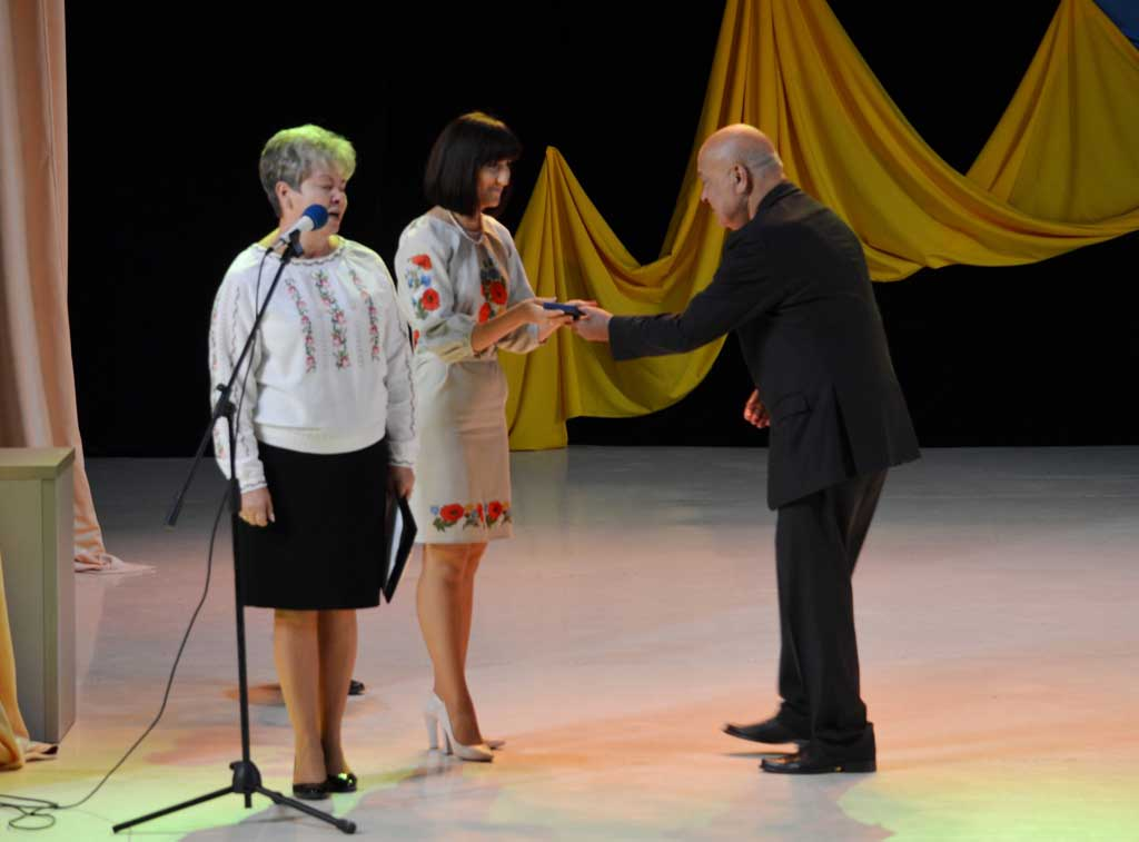Вручення нагороди Вікторії Биркович