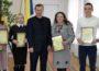 """Переможці конкурсу """"Учитель року-2018"""" з Б. Андріївим"""