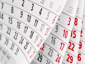Вихідні, календар, свята
