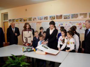 Марина Порошенко в ЗОШ № 20 м. Ужгорода
