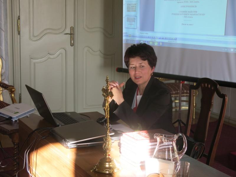 Одарка Долгош (Сопко) презентувала нове дослідження