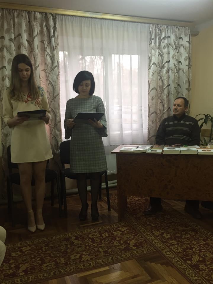 Під час зустрічі з Мирославом Дочинцем