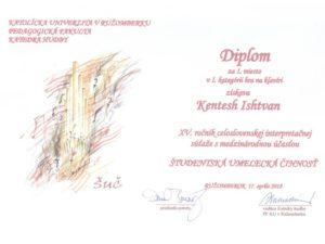 Диплом переможця - Іштван Кентеш