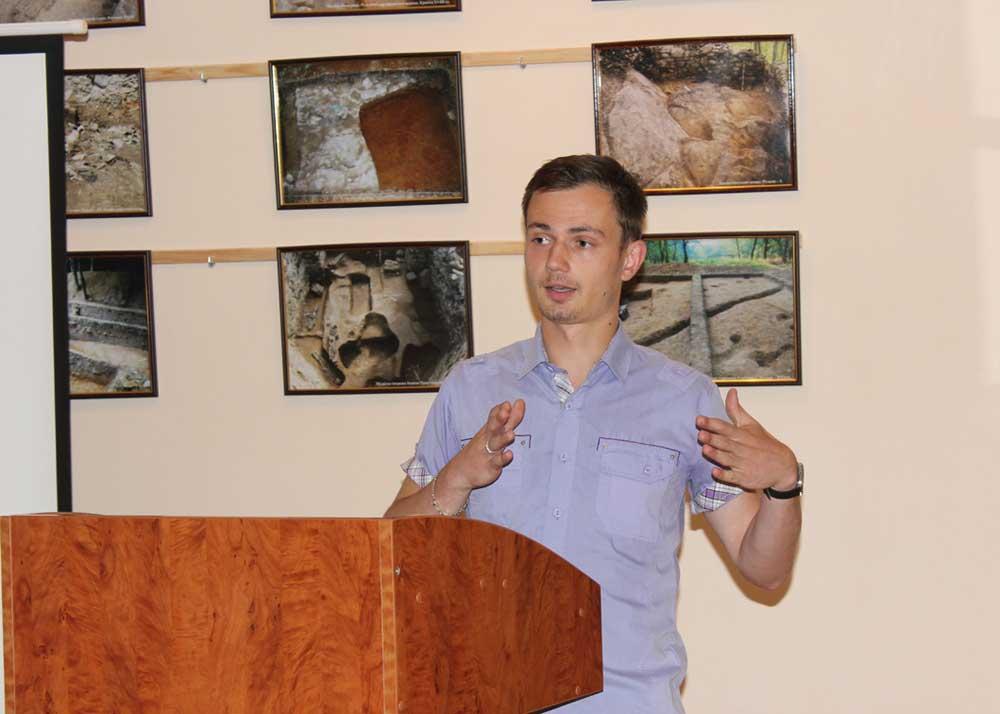 Виступ студента-магістранта Василя Карпова