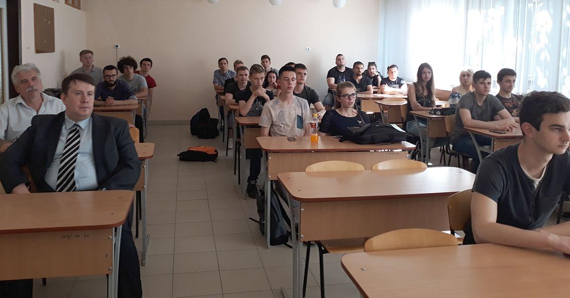 Під час лекції на факультеті інформаційних технологій УжНУ