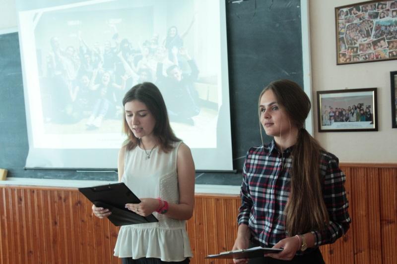 Ведучі - студенти відділення журналістики УжНУ