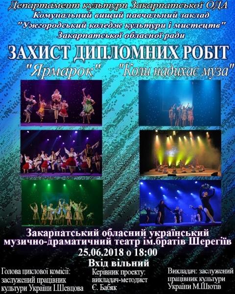 Афіша - захист дипломних робіт хореографів
