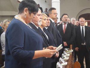 Клімкін і Гриневич у Берегові під час вручення дипломів у Закарпатському угорському інституті