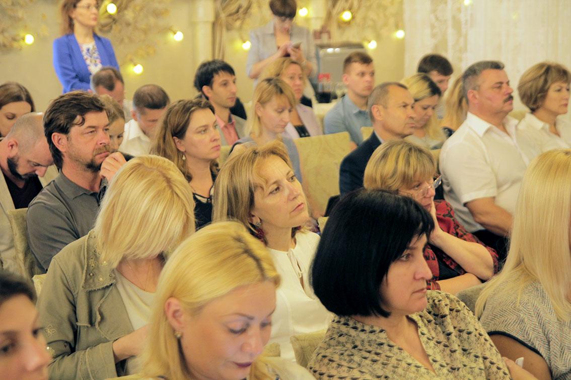 Галина Шумицька під час конференції