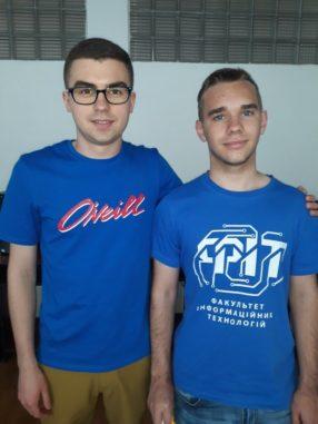 Адальберт Макарович з тренером Сергієм Оришичем