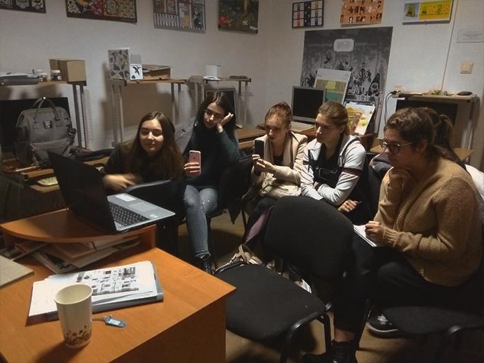 Студенти Закарпатської академії мистецтв під час лекції