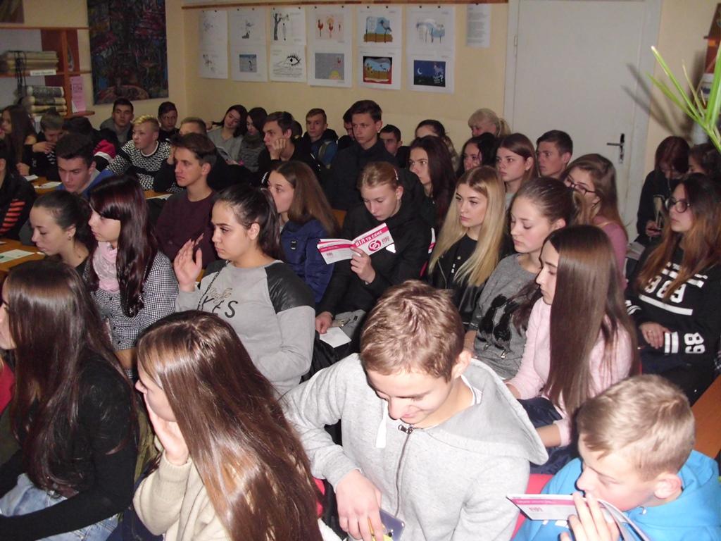 Студенти УТЕК КНТЕУ під час виховного заходу