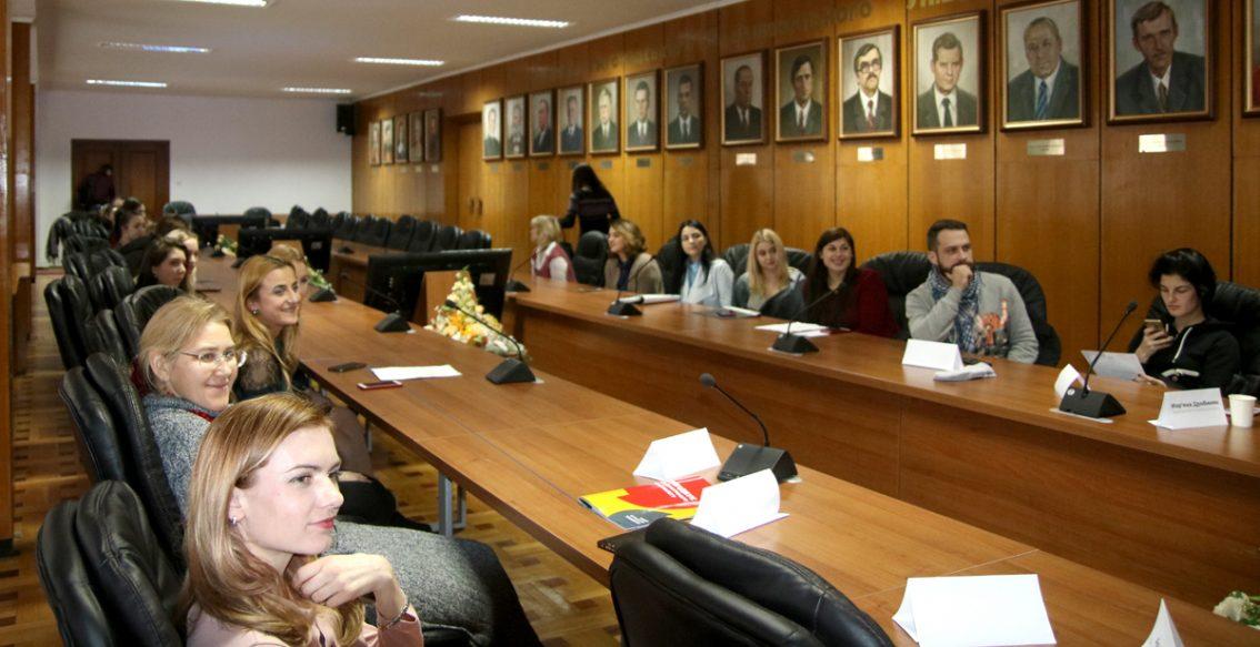 Під час презентації «Дизайну спілкування» в залі засідань Вченої ради