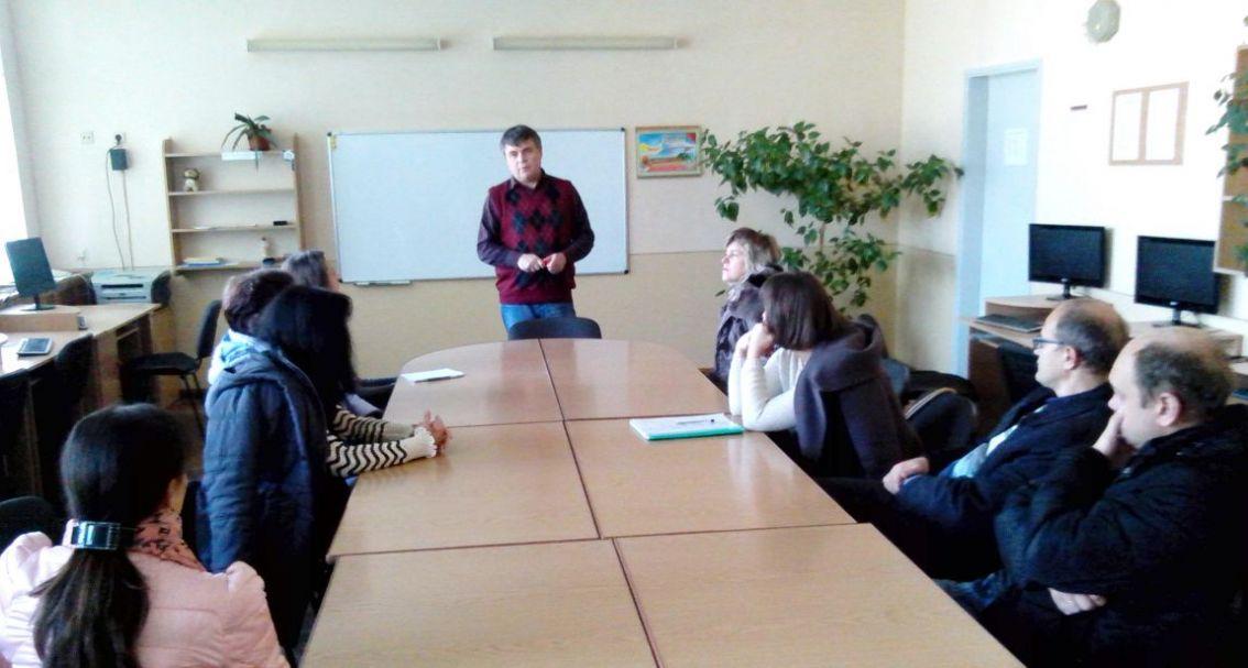 Сергій Вапнічний зі старокостянтинівськими педагогами