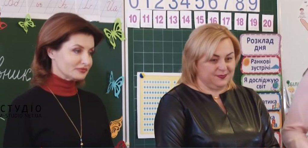 Марина Порошенко у Мукачівській ЗОШ № 13
