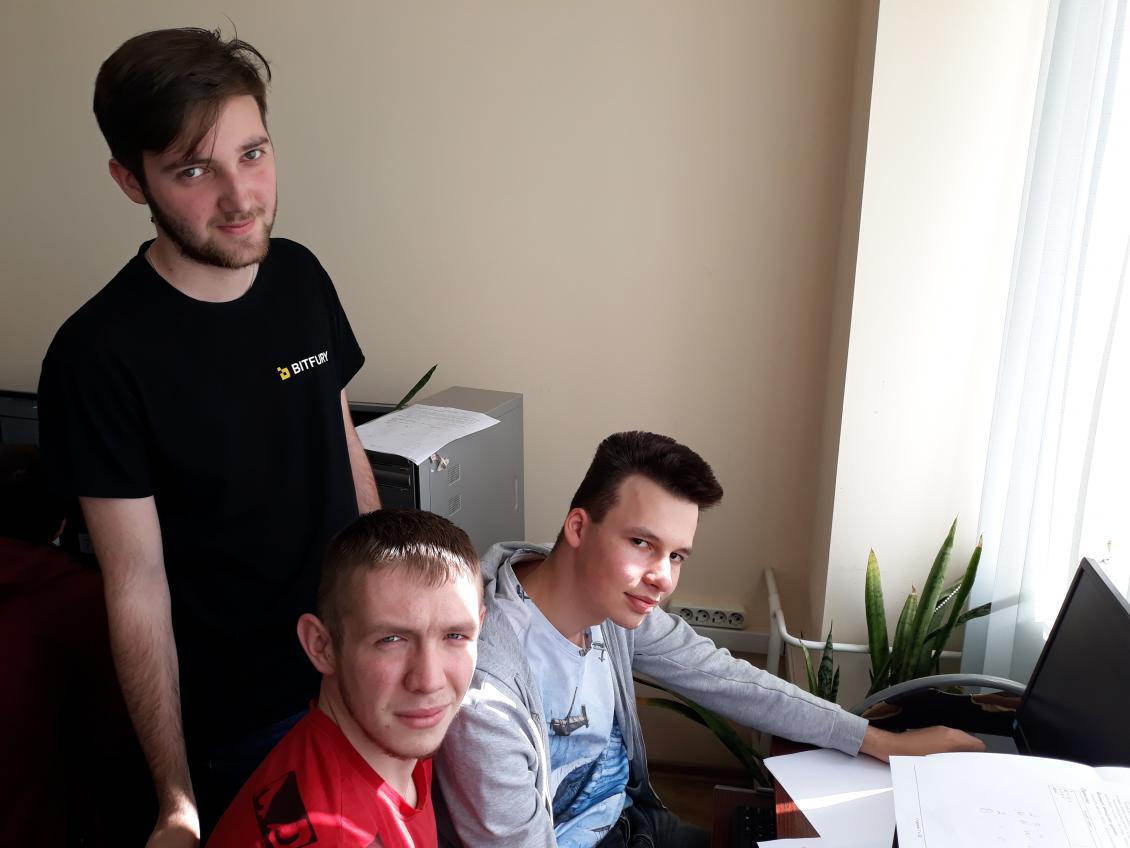 Переможці серед студентів - Михайло Пригара, Ігор Вовк та Артур Сидоран