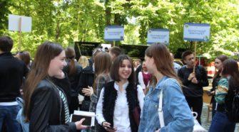 Учні з Мукачева на дні відкритих дверей в УжНУ